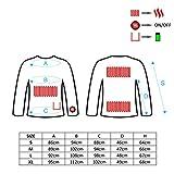 Glovii thermoaktive Unterwäsche, Akku Beheizte Unterhemde, Langarm Technische Bekleidung T-shirt, Schwarz, XL - 7