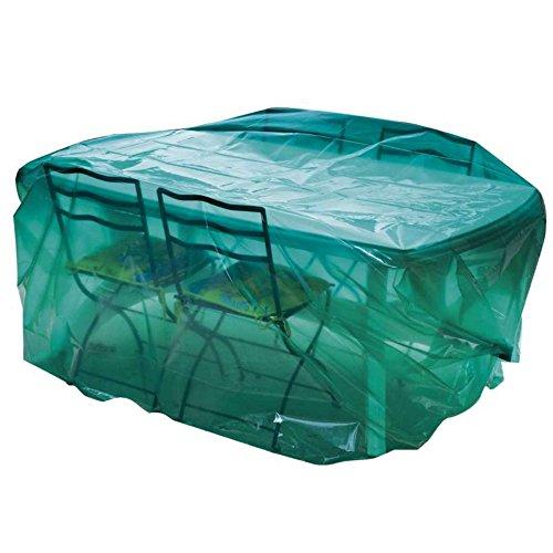 Maillesac JP0300 Housse pour Mobilier de Jardin Plastique Vert Translucide 300 x 120 x 90 cm Taille 3