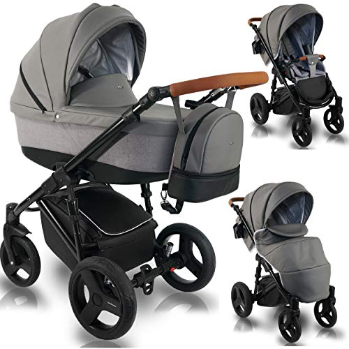 Kinderwagen 2-in-1 3in1 Isofix Buggy autostoel Premium UltraN by Ferriley & Fitz 3in1 mit Babyschale Urban Style UN110