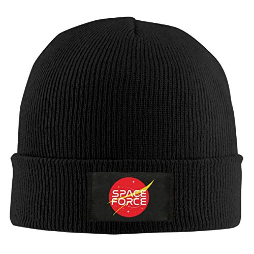 Voxpkrs Space Force Logo Top Level Beanie Men Women - Unisex Stylish Slouch Beanie Hats£¨New Year's Gift Black