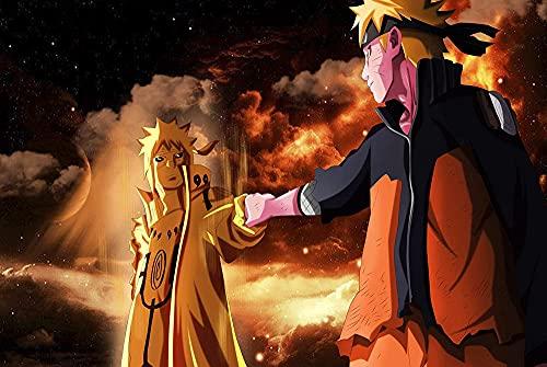 GOGOGK Juego de Pintura de Diamantes 5D DIY Naruto Uzumaki Naruto Estilo Fresco Tema de Anime Sala de Estar/Dormitorio/Decoración de Pared Pintura Artes/Manualidades/Juguetes educativos Diaman