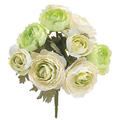 東京堂 造花 #ホワイトグリーン MAGIQブランド キャンディラナンブッシュ FM007184-001