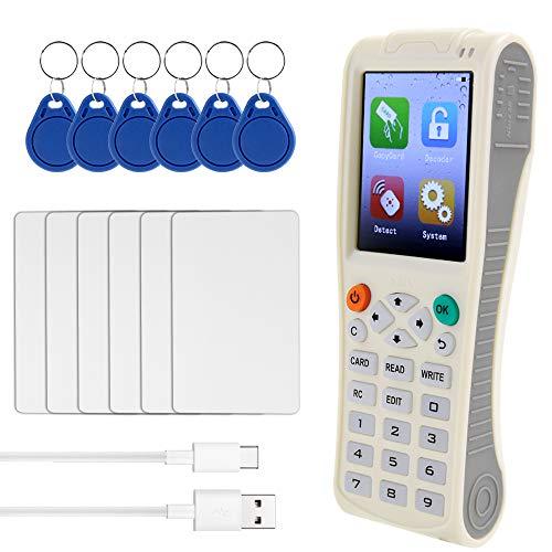 Topuality Handheld-Schlüsselmaschine iCopy8 mit vollständiger Dekodierungsfunktion Intelligente Kartenschlüsselmaschine RFID NFC-Kopierer IC/IDReader Writer Duplicator