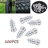 Delaman Reifen Stud 100pcs 15mm / 0.59'Rad Reifen Bolzenschrauben, Schnee Reifen Spikes für Auto Auto SUV ATV