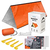 Emergency Tent with 2 Emergency Blanket – Survival Camping Gear and Equipment – Use As Survival...