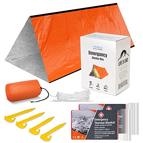 Emergency Tent with 2 Emergency Blanket – Survival Camping...