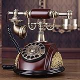motes uvar Europea antigüedad Teléfono, Rotary Dial Telephone, Retro–Teléfono, metal–Dial Telephone Set