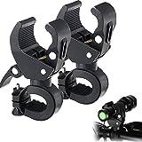 ZONSUSE Soporte para Linterna,360ºRotación Soporte de Montaje Bike Clip Pieza para Bicicleta, con Máx Diámetro de 18 mm a 34 mm, Ideal para el Ciclismo, Ajustable, Flexible