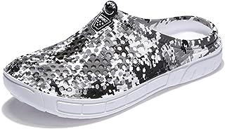 FDSVCSXV Adult Clogs Garden Shoes Slippers, Lightweight Flip Flops Quick-Dry Mesh Water Shoes Non-Slip Footwear Men,B,39