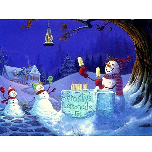 DIY 5D Diamond Painting Kits for Adults&Kids Christmas Santa Claus Snowman Christmas Trees Animal Village 20X27 INCH (50X70CM) by Number Kits Rhinestone Embroidery Arts Craft Canvas Wall Décor