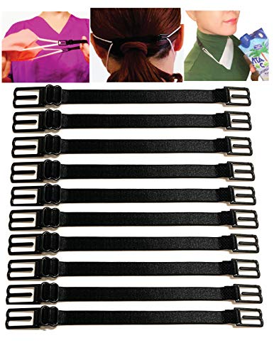10 PCS Mask Extender/Mask Strap/Ear Saver/Lanyard Hook for Masks with Adjustable Mask Clips with High Elastic Fabric