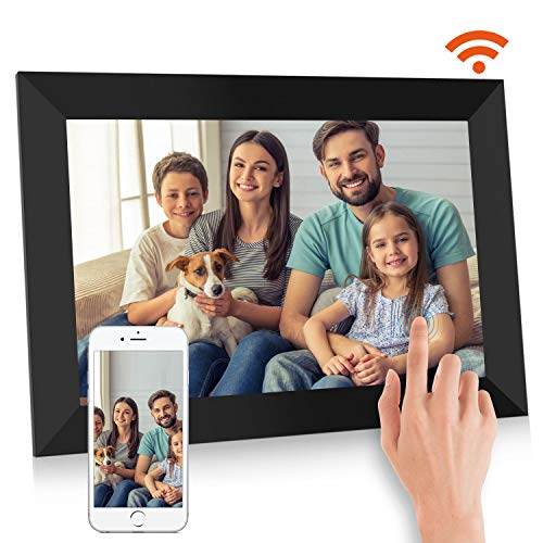 BIGASUO Digital Picture Frame - 10 inch Wi-Fi Auto IPS Touch Screen Slideshow 1280 x 800 Photo Frame, 16GB Large Memory Share Moments Instantly via Mobile APP, Support USB and SD Card Digital Frames Picture