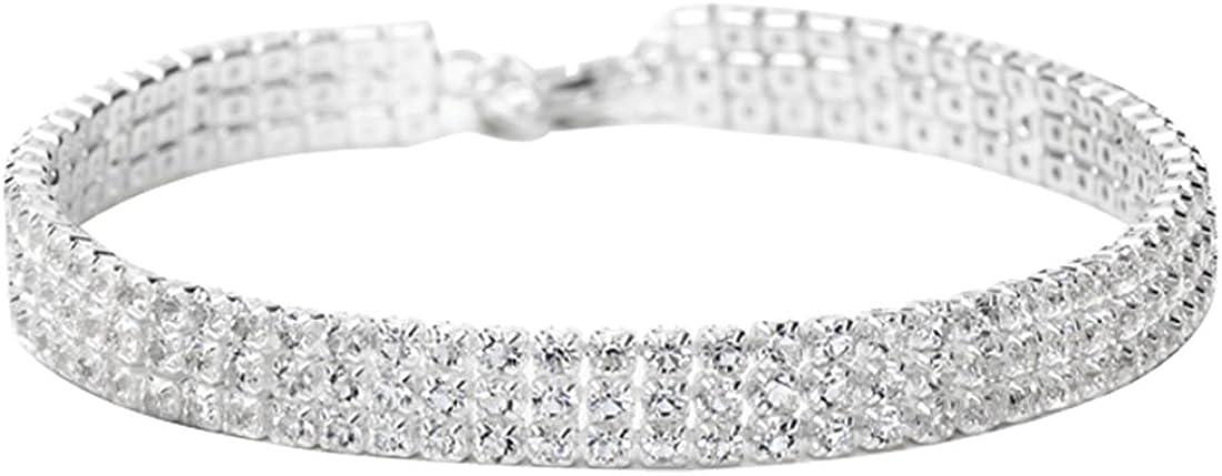 NEOGLORY Jewelry Platinum Plated Stunning Rhinestone Classic Ten