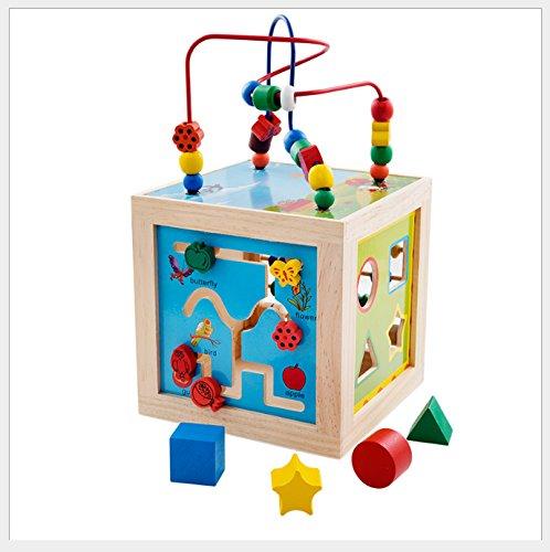 KLEIN Design - Centre De Jeux/Cube D'activités 5 en 1 de Couleur vive, 20x20x35 cm