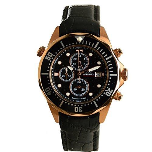Rotary Aquaspeed Black Dial Strap Watch AGS00070/C/04