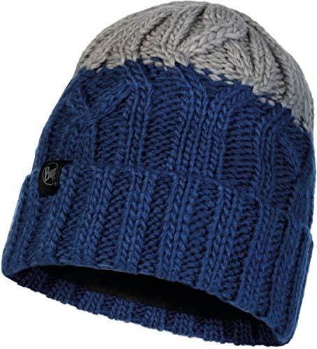 Buff - gebreide muts Polar Ganbat voor kinderen - blauw/grijs