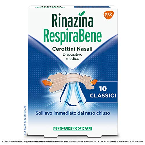 Rinazina Respirabene Cerottini Nasali 10 Classici - 25 g