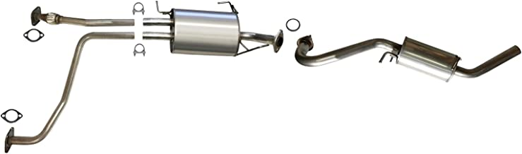 front flex pipe muffler resonator exhaust system kit fits: 2001-2004 Nissan Pathfinder 3.5L