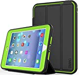 iPad Mini case iPad Mini 2 case iPad Mini 3 case DUNNO Heavy Duty Full Body Rugged Protective Case Whit Auto Sleep/Wake Up Stand Folio & Three Layer Design for Apple iPad Mini 1/2/3 (Black/Green)