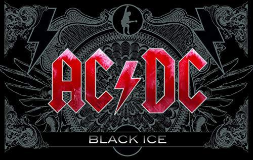 AC/DC Frühstücksbrettchen, Kunststoff, schwarz, 23.3 x 14.4 x 0.2 cm