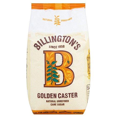 Billington's Natural Golden Caster Unrefined Cane Sugar (1Kg) - Pack of 2