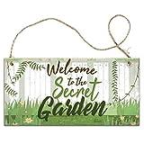 """Lecheng Holzschild mit Aufschrift """"Welcome To My Garden"""", Retro-Stil, Gartenhaus, Gartenhaus, Freundschaft, Mutter, Großmutter, 20 x 10 cm Mehrfarbig 6"""