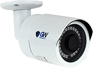 GW Security 5 Megapixel H.265/H.264 ONVIF Waterproof Bullet HD POE IP Security Camera, 5MP (2592X1920), Day/Night up to 100FT IR Distance