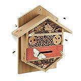 Relaxdays, nature Hôtel à insectes abri refuge jardin balcon terrasse abeille papillon bois HxlxP: 33,5 x 28,5 x 10 cm, 10 x 28,5 x 33,5 cm