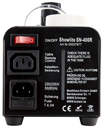 Showlite SN-400 Nebelmaschine mit roten LEDs Erfahrungen & Preisvergleich