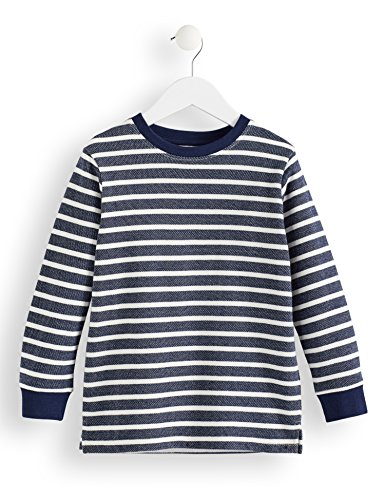 Amazon-Marke: RED WAGON Jungen Langarmshirt mit Streifenmuster, Blau (Blue), 110, Label:5 Years