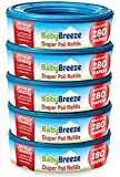 Diaper Pail Refill Bags for Playtex Diaper Genie - 1400 Count (5-Pack) - By BabyBreeze...