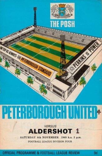 Peterborough United - THE POSH - v Aldershot - League Division Four - 08/11/1969 - Programme