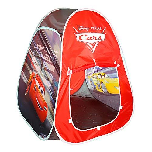 Disney - Tienda de campaña Infantil Tienda Pop Up para Niños Niñas Juguetes niños 3 años Diseño Cars Rayo Mac Queen Carpa plegable para niños automontable Disney