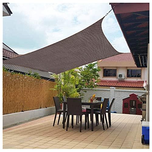 GJXJY Vela de Sombra Rectangular, 85% Protección UV Toldos Exterior con Protección Solar, Transpirable HDPE Toldo Vela de Sombra Jardín
