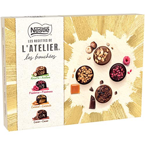 Nestlé Les Recettes de L'Atelier Les Bouchées Estuche de Bombones Surtidos, 186g