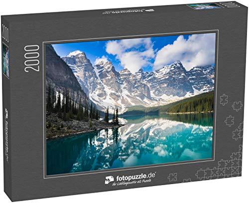 Puzzle 2000 Teile Moraine Lake, Rocky Mountains, Kanada - Klassische Puzzle mit edler Motiv-Schachtel, Fotopuzzle-Kollektion \'Kanada\'