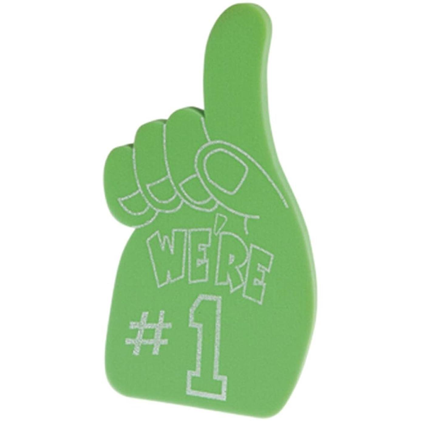 U.S. Toy KD24-10 Foam Number 1 Hands, Green
