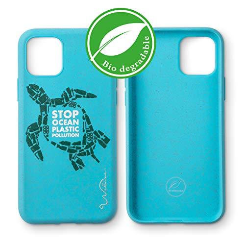 Wilma Umweltfreundliches, biologisch abbaubare Handy Schutzhülle Kompatibel mit iPhone 11, Stop Meeres Plastik Verschmutzung, Kunststoff-frei, abfallfrei, ungiftig, Vollschutz Hülle - Schildkröte