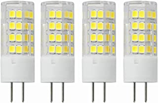 VWV GY6.35 LED Bulb 5W 450LM,AC100V~130V Voltage, 45W Halogen Bulbs Equivalent, Dimmable 6000K Daylight White (4-Pack)