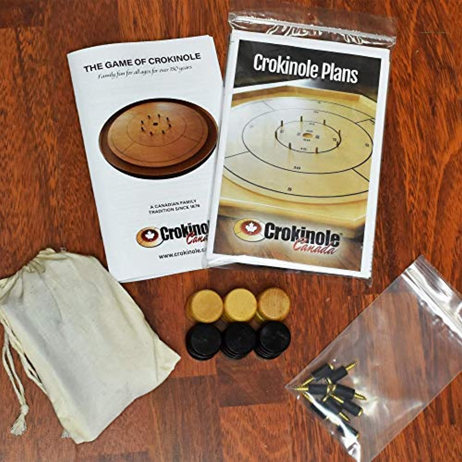 Crokinole Traditional Board Size Latex) Rubber with Screws