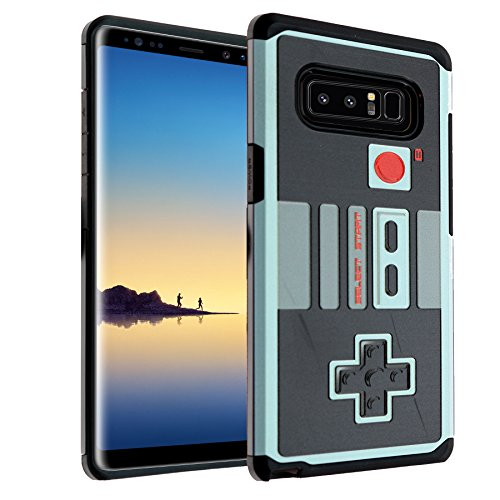 for Note 8 Game Controller Case, IMAGITOUCH 2-Piece Armor Case with Flexible Shock Absorption Case and Retro Game Controller Cover for Galaxy Note 8 (2017)–Controller