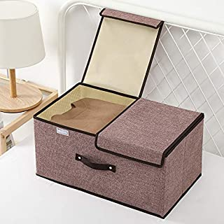 YLBH Boîte de Rangement Boîte de Rangement Boîte de Rangement, Panier, Bureau avec Rangement Couvercle, boîte de Rangement...