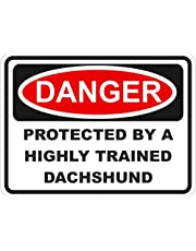 1x teckel gevaar vinyl waterdichte sticker - 5cm/2inch