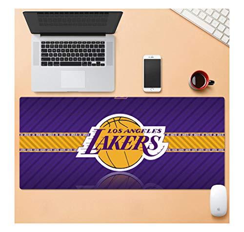 Tappetino per mouse da gioco NBA All-Stars Lakers   Tappetino per mouse XXL   Base spessa 3 mm Precisione e velocità perfette-900 * 400 * 3 mm