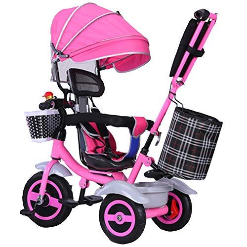 YumEIGE driewieler kindertrolley verstelbaar 1-6 jaar verjaardag kinderwagen, kinderwagen, trike gewicht 80 kg verkrijgbaar