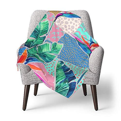 EADFZGFBDVXFVC Watercolor tropical flowers Baby Soft Fleece Blanket Winter Throw Blanket For Girls Boys Bath Shower