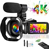 4K Camcorder, 48M 30FPS YouTube Camera for Vlogging with 3.0 Inch Touch Screen