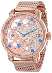 professional Akribos XXIV Automatic Skeleton Mechanical Men's Watch – With a transparent dial with IP housing…