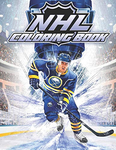 NHL Coloring Book: Famous National Hockey League Players and Team Logos