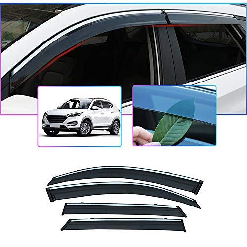 Auto Windabweiser Für H YUNDAI Tucson (TL) 2015-2019 Seitenfenster Blockiere die Sonne und den Regen Durchscheinender Fensterabweiser 4 Stück Set